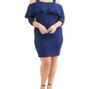 NWT Moral Fiber Plus off the shoulder  dress